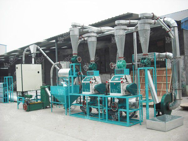 minimum wheat flour mill machine