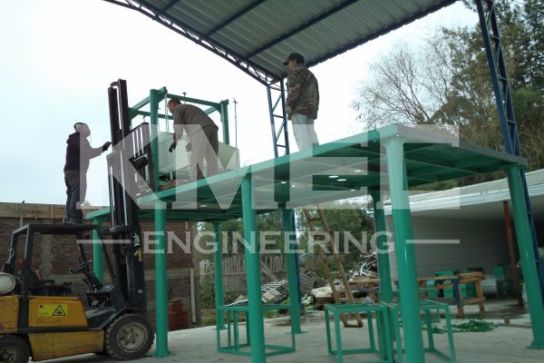 building up flour mill steel structure