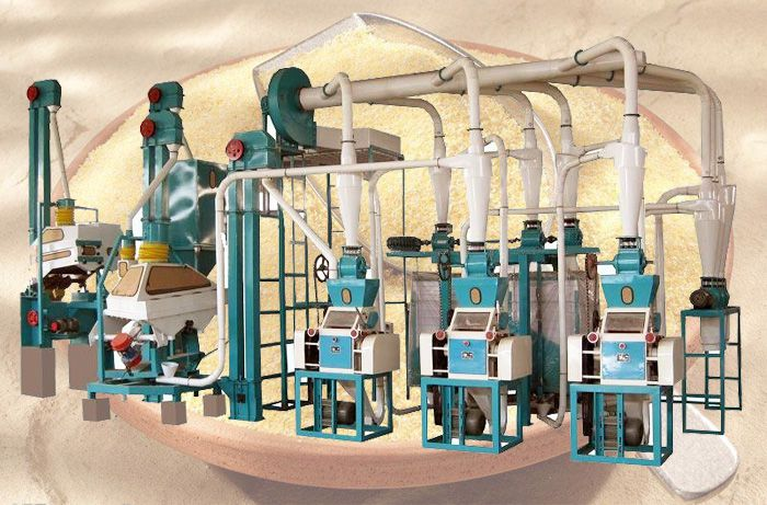 maize flour mill machine