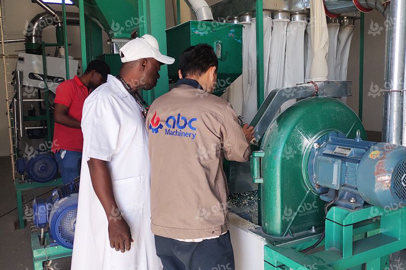 Maize Flour Milling Machine Onsite Trainning