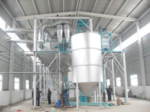 storage silo for 100t corn flour mill plant
